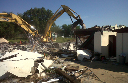 Land clearing and demolition at the new SWAT facility